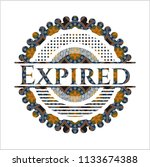 expired arabic emblem...   Shutterstock .eps vector #1133674388