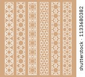 vector set of line borders with ... | Shutterstock .eps vector #1133680382