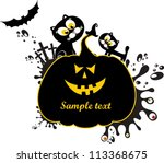 halloween card. illustration | Shutterstock . vector #113368675