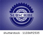 subscribe badge with denim...