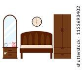student dorm room | Shutterstock .eps vector #1133693402