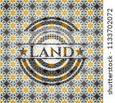 land arabesque style emblem.... | Shutterstock .eps vector #1133702072