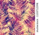 imprints autumn jungle leaves... | Shutterstock . vector #1133712398