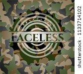 faceless on camo pattern   Shutterstock .eps vector #1133714102