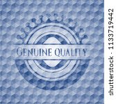 genuine quality blue badge with ... | Shutterstock .eps vector #1133719442