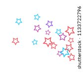colorful stars confetti ... | Shutterstock .eps vector #1133722796