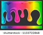 cartoon spectral rainbow  mucus ... | Shutterstock .eps vector #1133722868