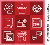 interface related set of 9... | Shutterstock . vector #1133723522