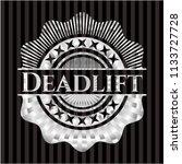 deadlift silver emblem or badge | Shutterstock .eps vector #1133727728