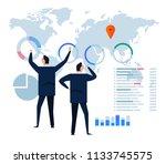 flat design concept business...   Shutterstock .eps vector #1133745575