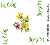 pink and yellow green leaves...   Shutterstock . vector #1133756162