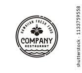 vintage hawaii restaurant  ...   Shutterstock .eps vector #1133759558