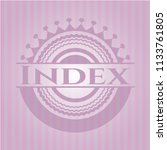index pink emblem. retro | Shutterstock .eps vector #1133761805