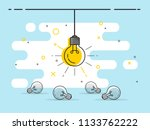 set of laying light bulbs with... | Shutterstock .eps vector #1133762222