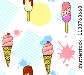 cute doodle style illustration... | Shutterstock .eps vector #1133763668
