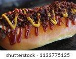 hot dog gourmet close up | Shutterstock . vector #1133775125