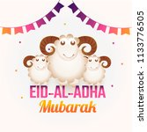 eid al adha greeting card... | Shutterstock .eps vector #1133776505