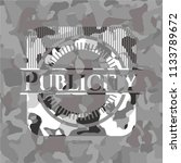 publicity on grey camo pattern | Shutterstock .eps vector #1133789672