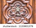 detail of the devil door in... | Shutterstock . vector #1133801378