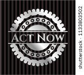 act now silver badge | Shutterstock .eps vector #1133803502