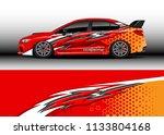 car decal graphic vector  wrap... | Shutterstock .eps vector #1133804168