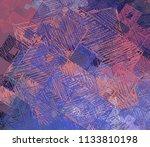 contemporary art. hand made art.... | Shutterstock . vector #1133810198