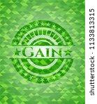 gain realistic green mosaic...   Shutterstock .eps vector #1133813315
