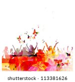 colorful vector people with... | Shutterstock .eps vector #113381626
