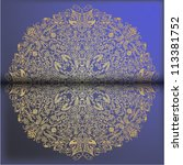 ornamental round lace pattern ...   Shutterstock .eps vector #113381752