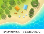 vector illustration. camping... | Shutterstock .eps vector #1133829572