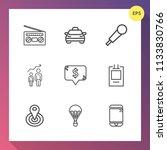 modern  simple vector icon set...   Shutterstock .eps vector #1133830766
