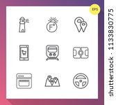 modern  simple vector icon set... | Shutterstock .eps vector #1133830775