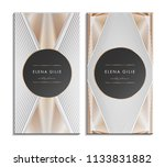 set of gold and white business... | Shutterstock .eps vector #1133831882