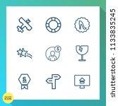 modern  simple vector icon set...   Shutterstock .eps vector #1133835245