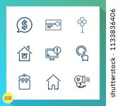 modern  simple vector icon set... | Shutterstock .eps vector #1133836406