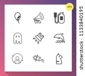modern  simple vector icon set... | Shutterstock .eps vector #1133840195