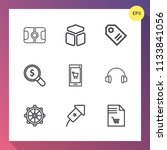 modern  simple vector icon set... | Shutterstock .eps vector #1133841056