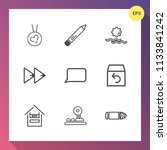 modern  simple vector icon set... | Shutterstock .eps vector #1133841242