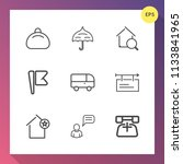 modern  simple vector icon set... | Shutterstock .eps vector #1133841965