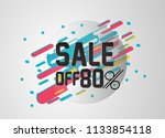 sale off 80   beautiful... | Shutterstock .eps vector #1133854118