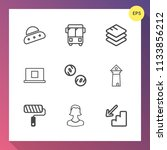 modern  simple vector icon set... | Shutterstock .eps vector #1133856212
