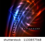 neon glowing techno lines  hi... | Shutterstock .eps vector #1133857568