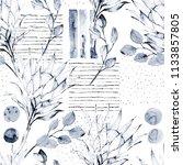 floral seamless pattern.... | Shutterstock . vector #1133857805
