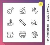 modern  simple vector icon set...   Shutterstock .eps vector #1133859422