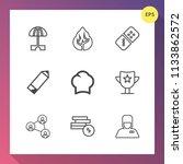 modern  simple vector icon set... | Shutterstock .eps vector #1133862572