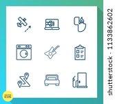 modern  simple vector icon set... | Shutterstock .eps vector #1133862602