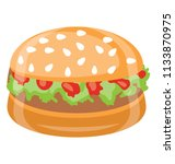 bread slices with the chicken... | Shutterstock .eps vector #1133870975