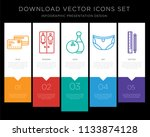 5 vector icons such as cit card ... | Shutterstock .eps vector #1133874128