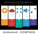 5 vector icons such as menu ...