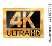 4k ultra hd resolution icon for ...   Shutterstock .eps vector #1133877746